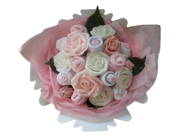 Small Baby Clothes Bouquet Pink Baby Bunch
